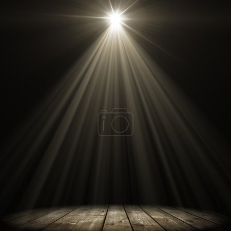 Photo for Stage spot lighting over dark background - Royalty Free Image