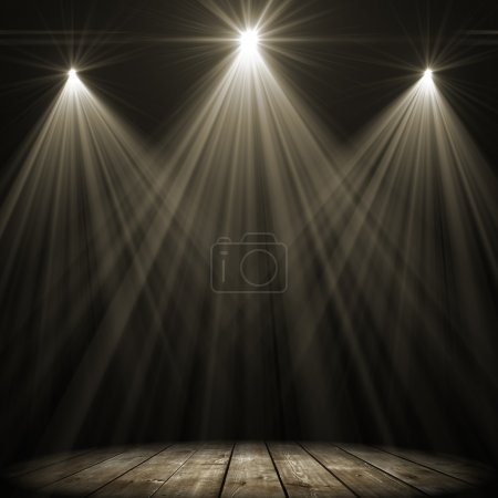 three stage spot lighting