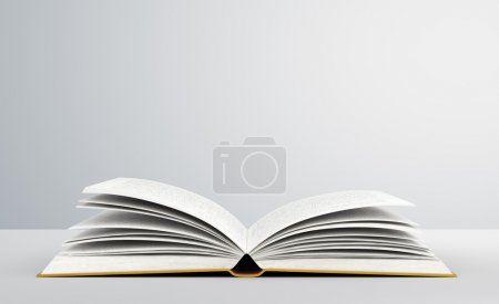 Photo for Open book on white background - Royalty Free Image