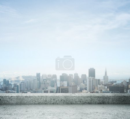Photo for City view from concrete roof - Royalty Free Image