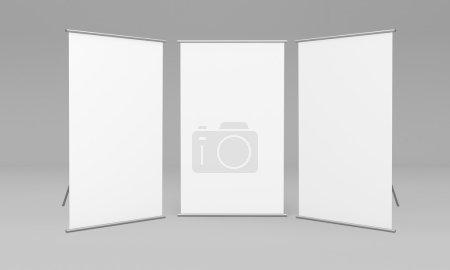 three white stand