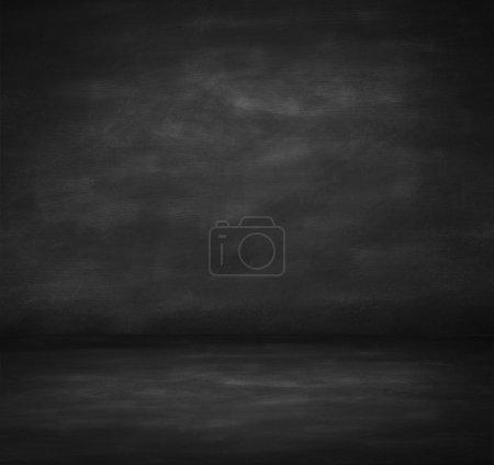 dark concrete room