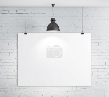 Photo for Poster on brick wall and plafond - Royalty Free Image