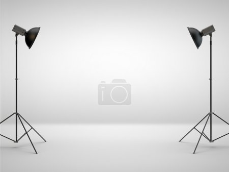 Photo for Photography studio with a light set-up - Royalty Free Image