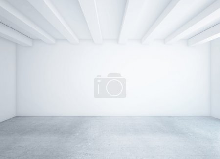 Photo for White empty loft room and concrete floor - Royalty Free Image