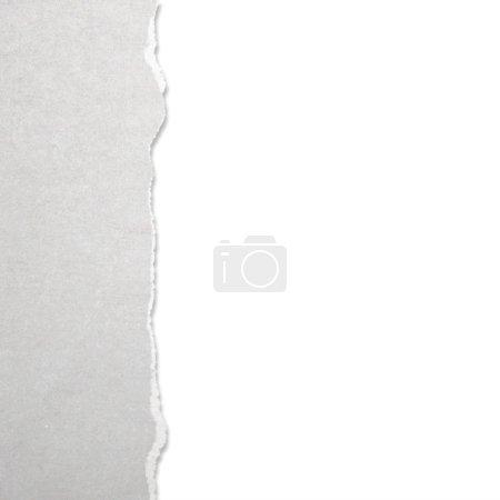 Photo pour Papier déchiré avec fond blanc - image libre de droit