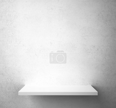Photo for Gray concrete wall with shelf - Royalty Free Image