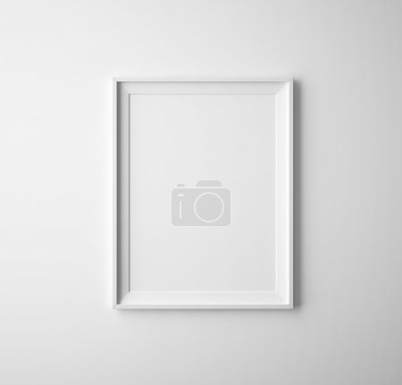 Photo for Blank paper frames on white wall - Royalty Free Image