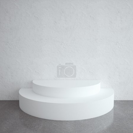 Photo for White brick room with podium - Royalty Free Image