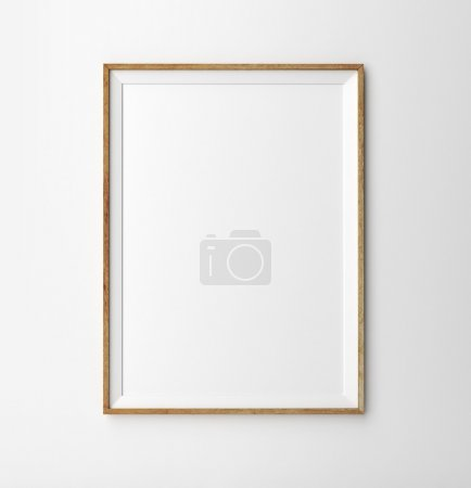 Photo for Wooden frame on a white background - Royalty Free Image