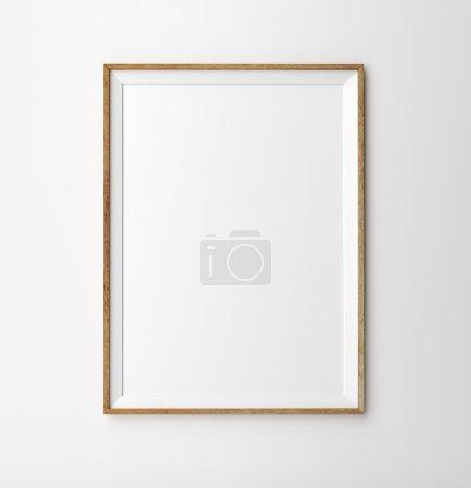 Photo pour Cadre en bois sur fond blanc - image libre de droit