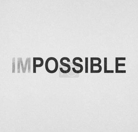 Photo pour Texte impossible sur un fond blanc - image libre de droit