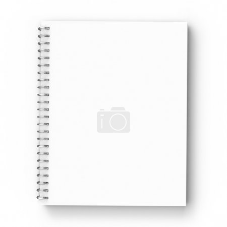 Photo for Notebook on a white background - Royalty Free Image