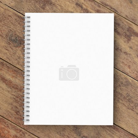 Photo for Notebook on a wooden background - Royalty Free Image