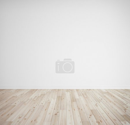 Photo for Bricks wall and wooden floor - Royalty Free Image