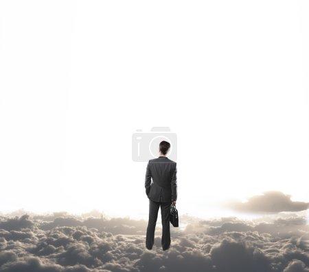 man on cloud