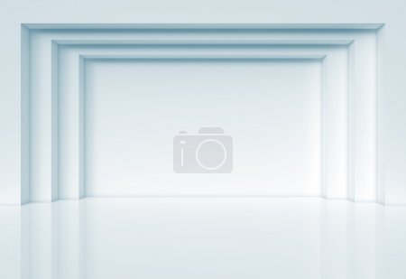 Photo for Blue abstract architecture 3d render - Royalty Free Image