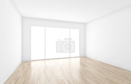 Photo for Empty interior with big window - Royalty Free Image