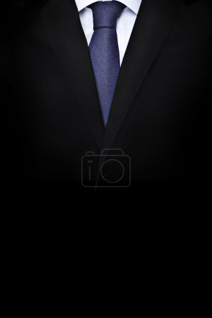 Photo for High Resolution suit with a blue tie - Royalty Free Image