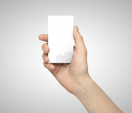 hand holding paper phone
