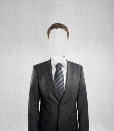 man standing without face