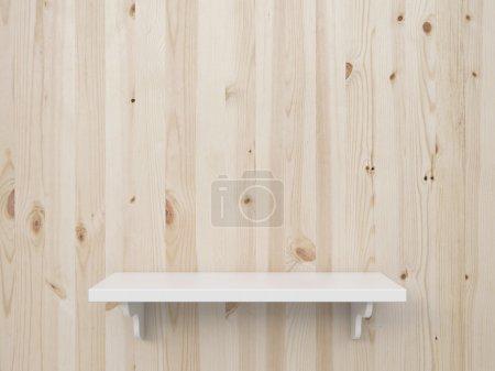 brown wooden shelf