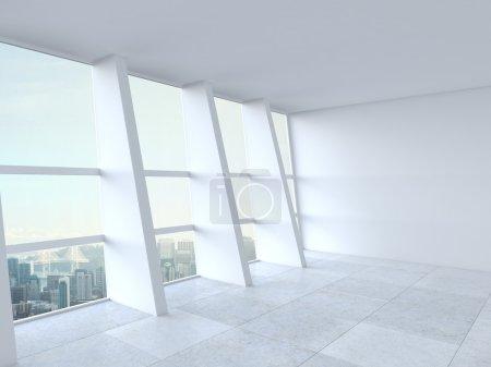 Photo pour Blanche intérieure et grande fenêtre - image libre de droit