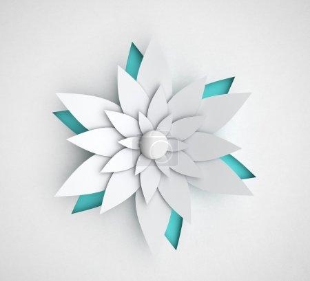 Foto de Flor de papel sobre un fondo blanco - Imagen libre de derechos