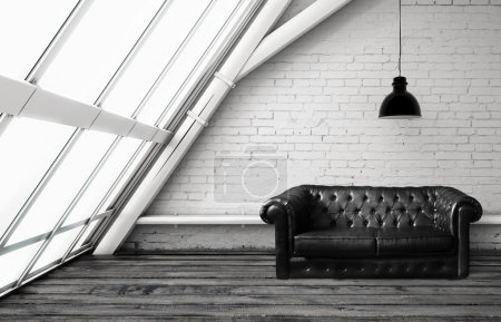 Loft with sofa