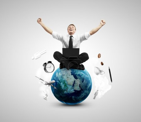 happiness businessman
