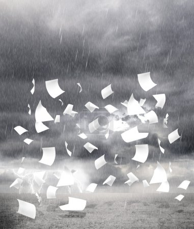 rainy weather with paper