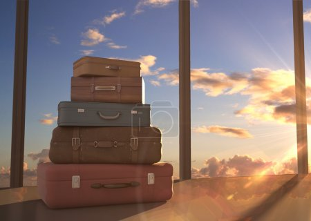 Photo for Travel bags and blue sky - Royalty Free Image