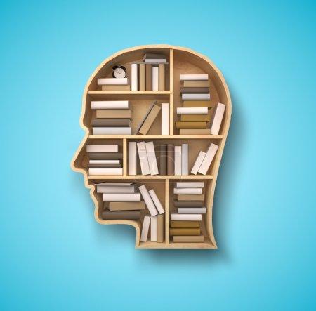 shelf in form of head