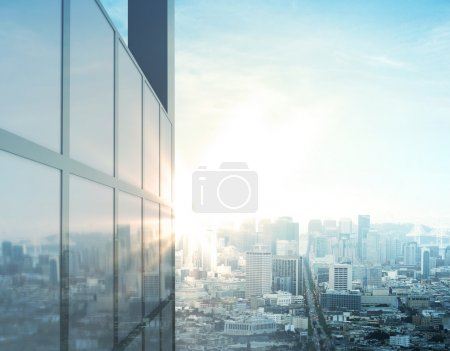 Photo for Beautiful sunlight on modern city - Royalty Free Image