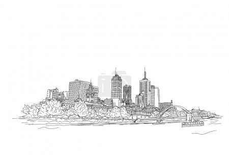 Abstract drawing city of future