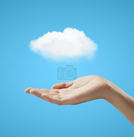 hand holding cloud