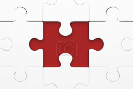 missing puzzle red