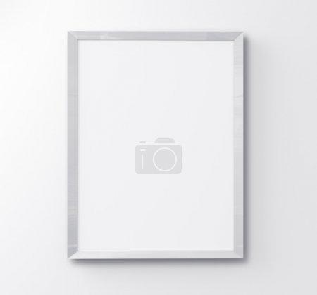 Photo pour Cadre blanc sur fond blanc - image libre de droit