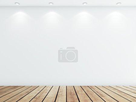 white concrete room