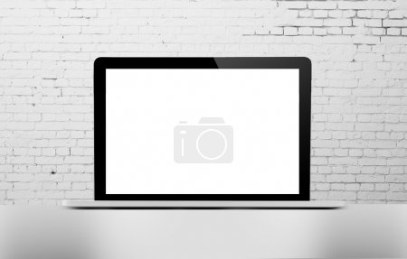 Photo for 3d render,  laptop with blank screen - Royalty Free Image