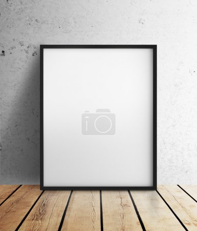 Photo for Blank frame hanging on wall - Royalty Free Image