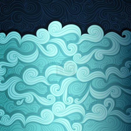 Illustration for Curly water banner made of fancy paper, vector eps8 illustration - Royalty Free Image