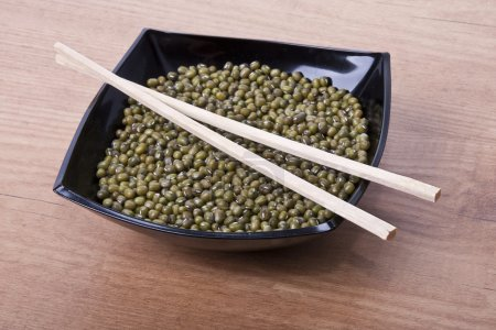 Green soy beans, Asian food...