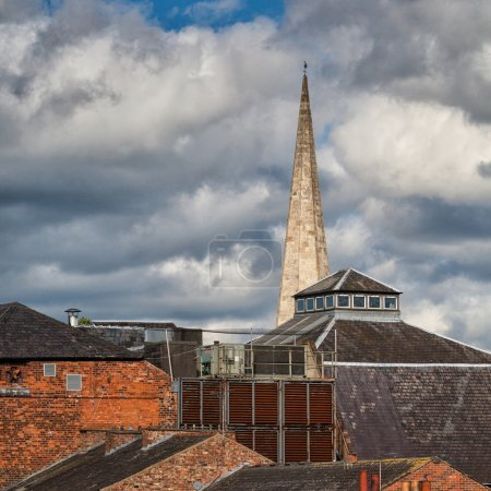 View on the roofs in York
