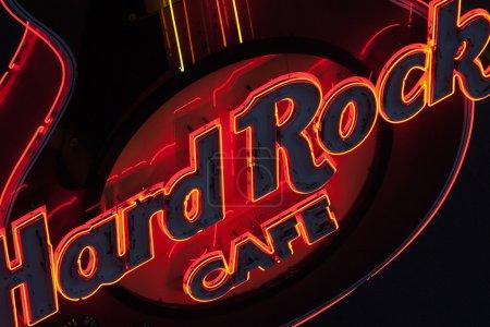 Poster: Guitar at entranceHard Rock Cafe