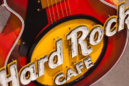 Poster: Guitar at entranceHard Rock Cafe