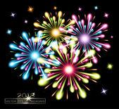 Fireworks splash colors