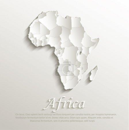 Illustration pour Vecteur Afrique politique carte naturelle papier 3D états individuels puzzle - image libre de droit