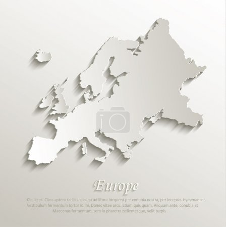 Vector papier de carte europe carte 3d naturel