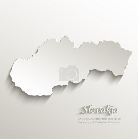 Slovakia map card paper 3D natural vector